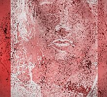 """""""Torn Red Lace"""" by tjfashion"""