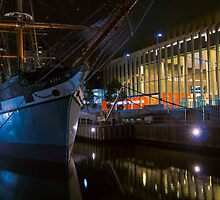 Polly Woodside at night, Melbourne, Victoria by PhotoJoJo