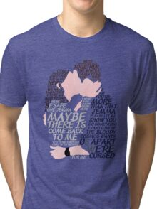 Fitzsimmons' Minimal Kiss Art Quotes Tri-blend T-Shirt