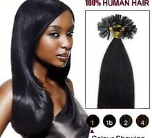 Cheap Jet Black 20 Inch Nail Tip Human Hair Extensions 100S On Sale by tiffanywuok1