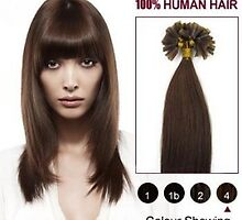 Medium Brown 20 Inch Nail Tip Human Hair Extensions 100S In Stock by tiffanywuok1