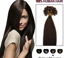 Cheap Nail Tip Human Hair Extensions 100S Dark Brown 20 Inch In Stock by tiffanywuok1