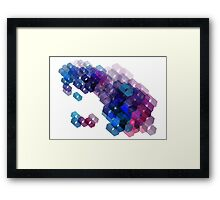 3D-blocks Framed Print