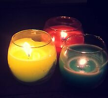 3 Colour Candles by GaryWood