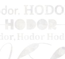 Hodor Hodor Hodor Hodor Sticker