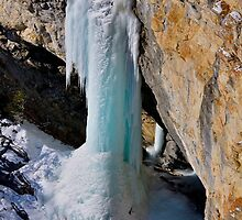 Frozen Waterfall, Avers Switzerland by Martin Gyger