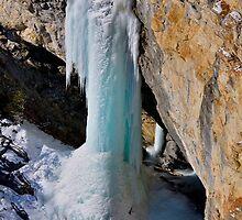 Frozen Waterfall, Avers Switzerland by itchingink