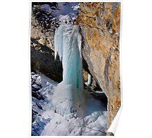 Frozen Waterfall, Avers Switzerland Poster