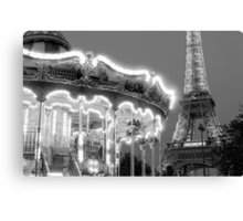 Paris Carousel Canvas Print