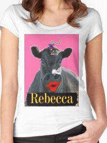 REBECCA Women's Fitted Scoop T-Shirt
