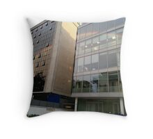 Rainbow Buildings Throw Pillow