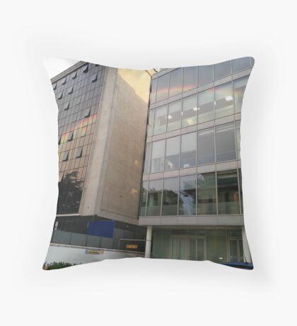 Rainbow Buildings Throw Pillow