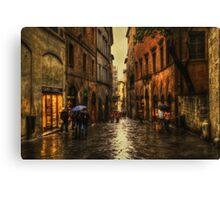 Rainy Day in Sienna Canvas Print