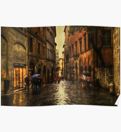 Rainy Day in Sienna Poster