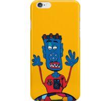 Goalkeeper, football, yellow, sport, monster, comic, children iPhone Case/Skin