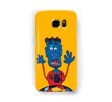 Goalkeeper, football, yellow, sport, monster, comic, children Samsung Galaxy Case/Skin