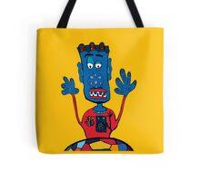 Goalkeeper, football, yellow, sport, monster, comic, children Tote Bag