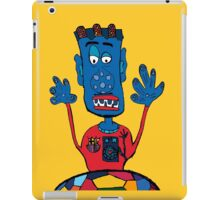 Goalkeeper, football, yellow, sport, monster, comic, children iPad Case/Skin