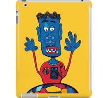 Goalkeeper, football, yellow, sport, monster, comic, children iPad Case/Skin