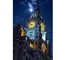 Top of the Liver Building tower in Liverpool Photographic Print