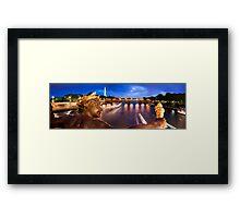 Paris Panorama Framed Print