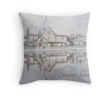 Seasons Greetings - Star Barn Throw Pillow