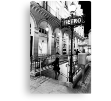 Paris Metro Canvas Print