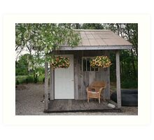 Garden Shed in Canada Art Print