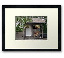 Garden Shed in Canada Framed Print