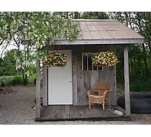 Garden Shed in Canada Photographic Print