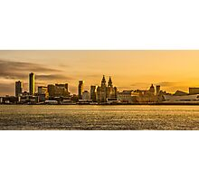 Sunrise Over Liverpool Photographic Print