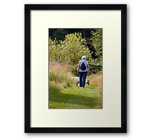 TRAMPING IN THE WOODS Framed Print
