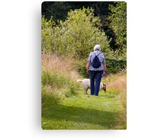 TRAMPING IN THE WOODS Canvas Print