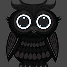 Black Owl - Grey by Adamzworld