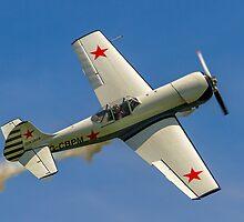 Yakovlev Yak-50 G-CBPM barrel rolling by Colin Smedley