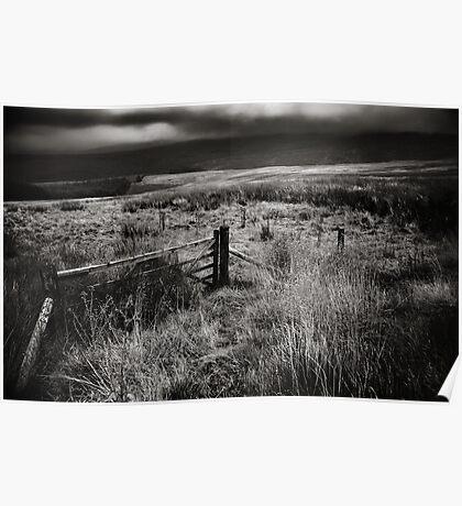 Berwyn mountains, Llangynog, Wales, UK Poster