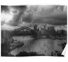 Sydney- AStudy In Black & White - The HDR Experience Poster