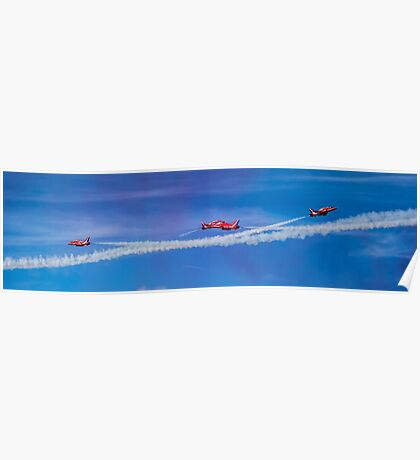 Red Arrows Fly Past Poster