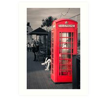 Phonebox at Eastbourne Art Print