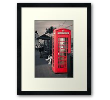 Phonebox at Eastbourne Framed Print