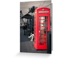 Phonebox at Eastbourne Greeting Card