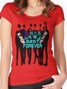 ♥♫I Love B2ST Forever Splendiferous K-Pop Clothes & Stickers♪♥ Women's Fitted Scoop T-Shirt