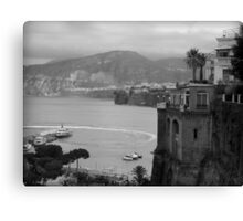 Mist on the Amalfi Coast Italy ~ Black/White Canvas Print
