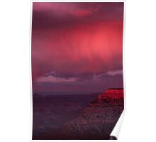 South Rim Grand Canyon at Sunset Poster
