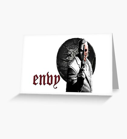 Two Face as Envy Greeting Card