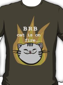 Nerd cat on fire T-Shirt