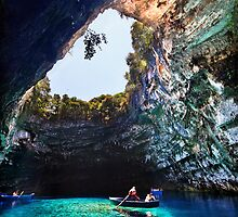 Boat ride in Melissani cave-lake by Hercules Milas