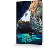 Boat ride in Melissani cave-lake Greeting Card