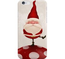 Gnome on fungus iPhone Case/Skin