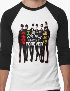 ♥♫I Love B2ST Forever Splendiferous K-Pop Clothes & Stickers♪♥ Men's Baseball ¾ T-Shirt